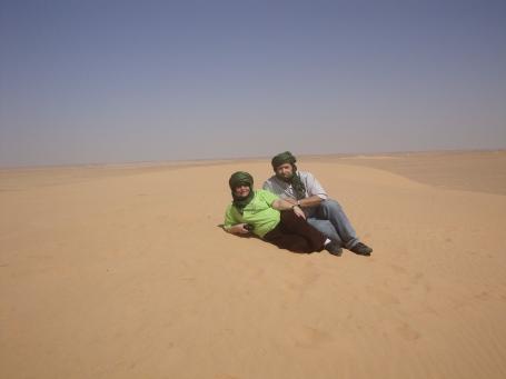 Maño y Bienve en el Sahara