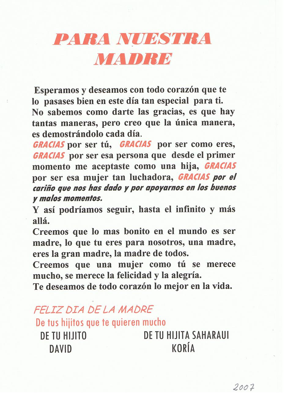 letra de tu madre: