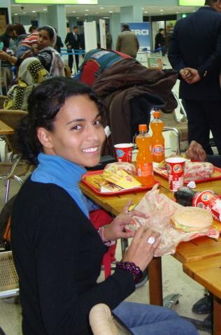 Koria en el aeropuerto de Argel