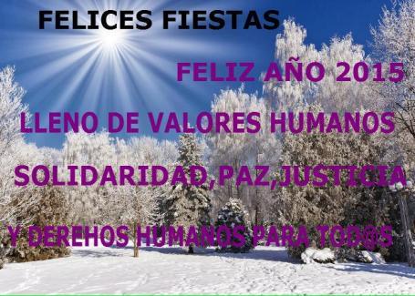 FELICES FIESTAS Y AÑO 2015